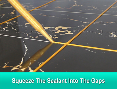 Squeeze the sealant into the gaps