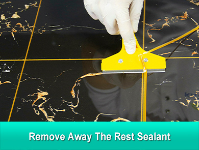 remove away the rest sealant