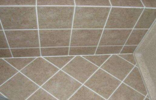 White tile grout