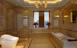 bathroom grout
